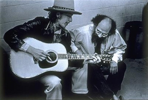 Allen Ginsberg and Bob Dylan by Elsa Dorfman (1975)