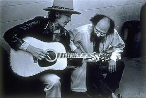 Allen Ginsberg and Bob Dylan by Elsa Dorfman (1975)