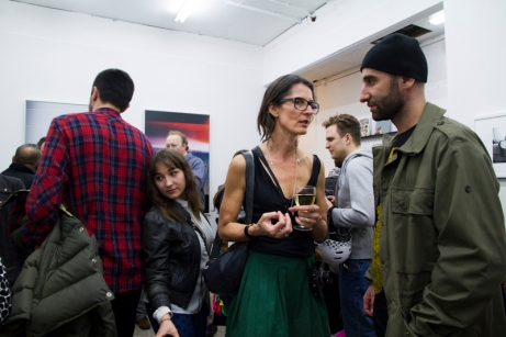 Cheryl Dunn at Sometimes the Answer opening, London